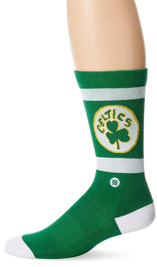 Stance Socks Boston Celtics NBA - Calcetines clásicos de madera dura para hombre Verde verde S