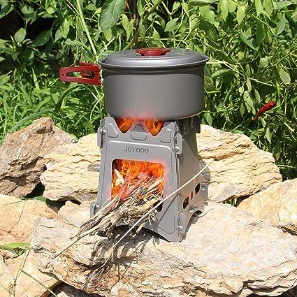 Amazon.com: JOYOOO – Estufa de Camping, estufa de madera ...