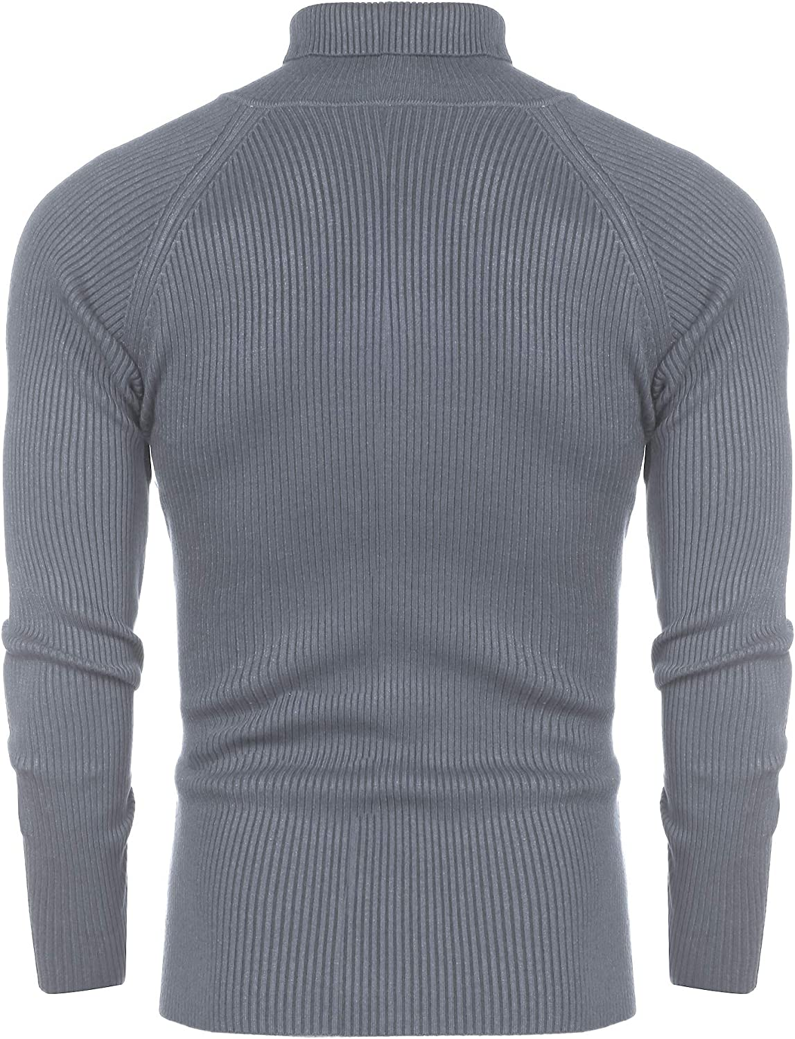 Mens Tops T-shirt Long sleeve Turtleneck Casual Solid Stretch Comfy Lightweight
