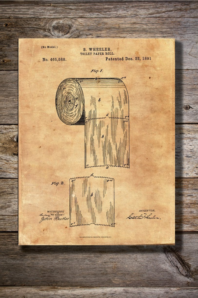 Amazon.com: Personalized Printing 4U Vintage Toilet Paper Patent ...