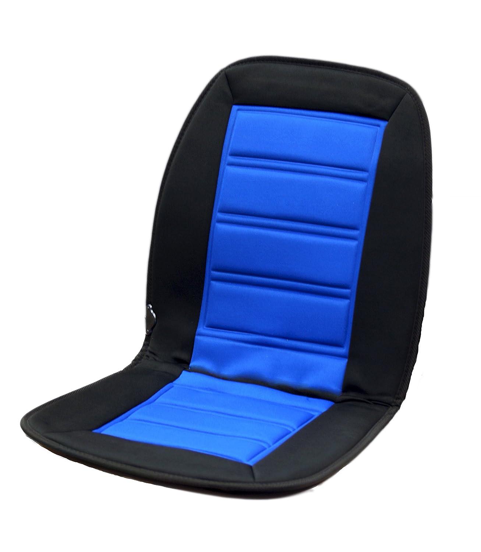 Auto sedile riscaldato I 12 V con 2 Livelli di Calore regolabile I colore blu/nero I riscaldabile Coprisedile VDA