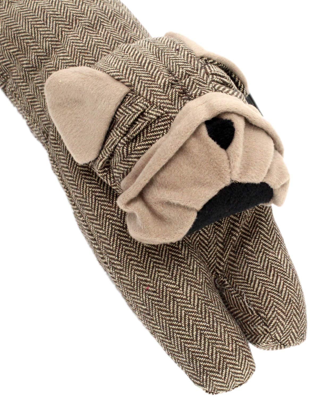 Take Me Home Draught Excluder ~ Brown Herringbone Bulldog Door Draught Cushion