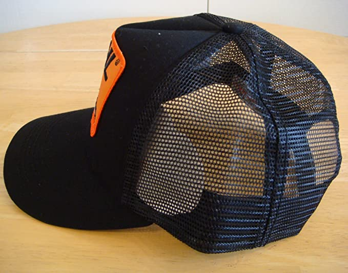 Amazon.com: Stihl Black Trucker Style Hat / Cap with Orange Chainsaw Stihl Patch: Sports & Outdoors