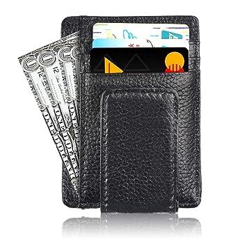 Tarjetero RFID Cartera Crédito, Cartera Multiuso Bolsillos, Billetera Tarjetas de Crédito Slim Moda,