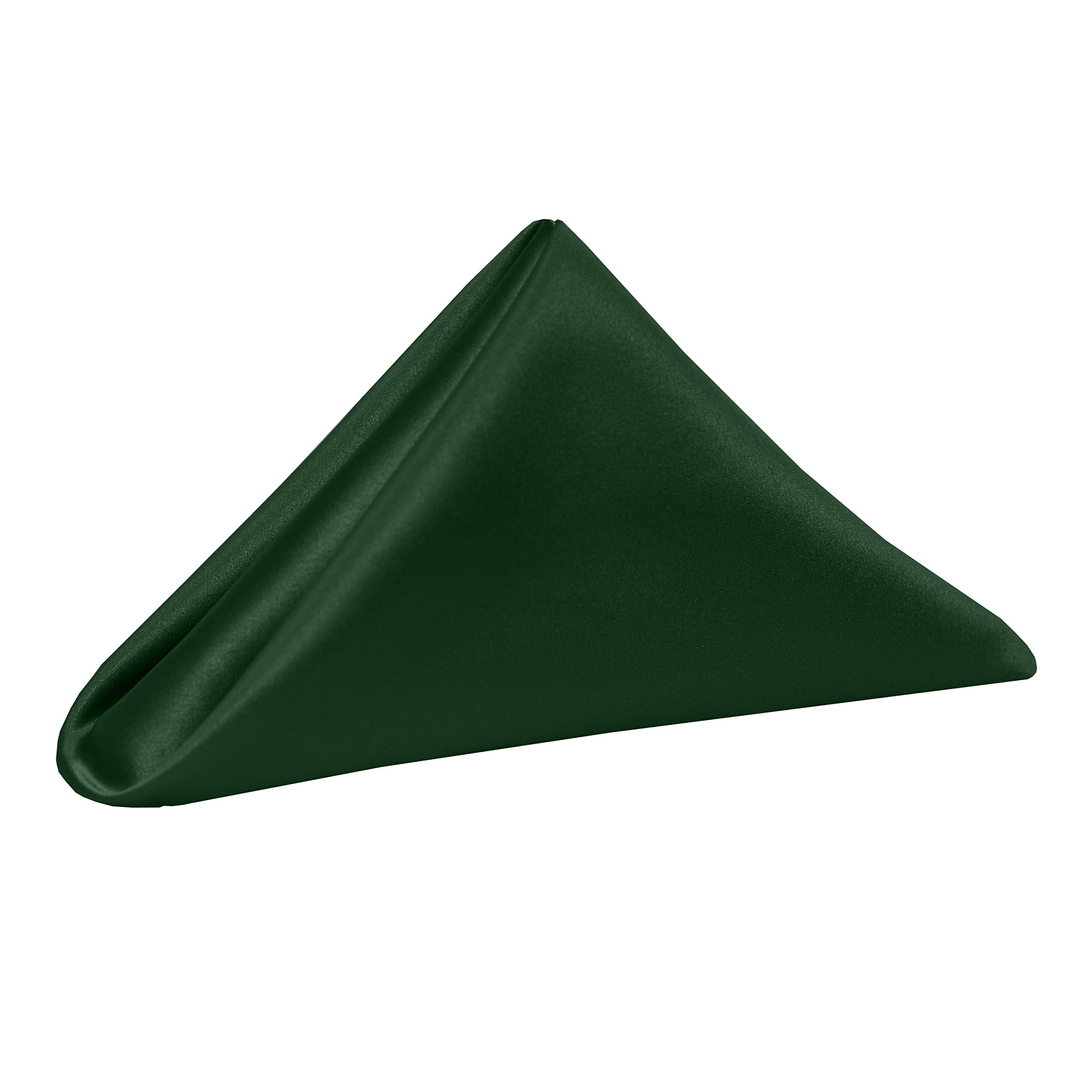 Ultimate Textile (46 Dozen) Satin 20 x 20-Inch Dinner Napkins - for Wedding, Special Event or Banquet use, Hunter Green