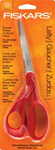 "Fiskars 1294508697WJ Left-hand 8"" Bent-left, Stainless Steel - Orange"