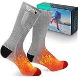 MECO Heated Socks, Winter Socks for Men Women 3.7V 4000mAh Battery Powered, 3 Heating Settings Rechargeable Electric…