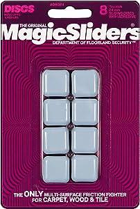 """Magic Sliders 8024 Series 8PK 15/16"""" SQ Slider, 1, White"""