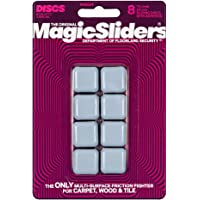 "Magic Sliders 8024 Series 8PK 15/16"" SQ Slider, 1, White"