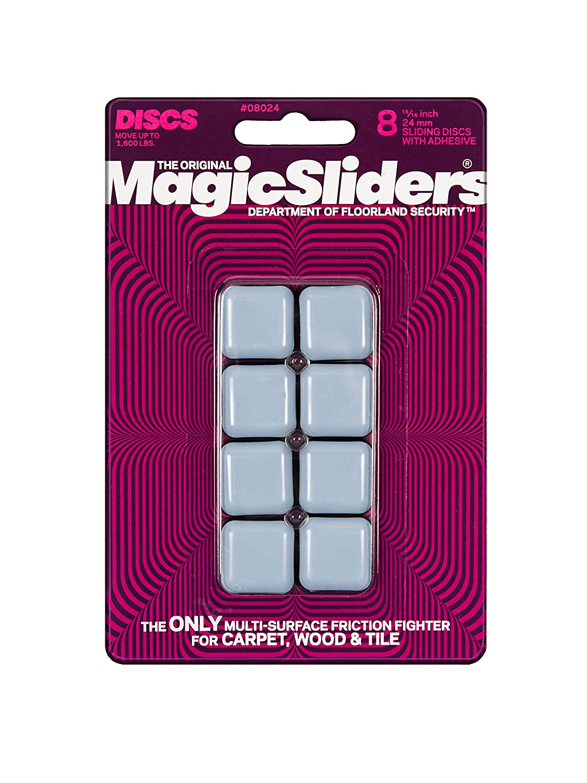 MAGIC SLIDERS L P 8024 8 Pack 15/16 SQ Slider