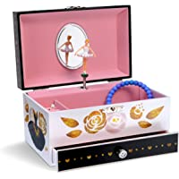 Jewelkeeper Musical Jewelry Box with Pullout Drawer, Classic Design, Swan Lake Tune