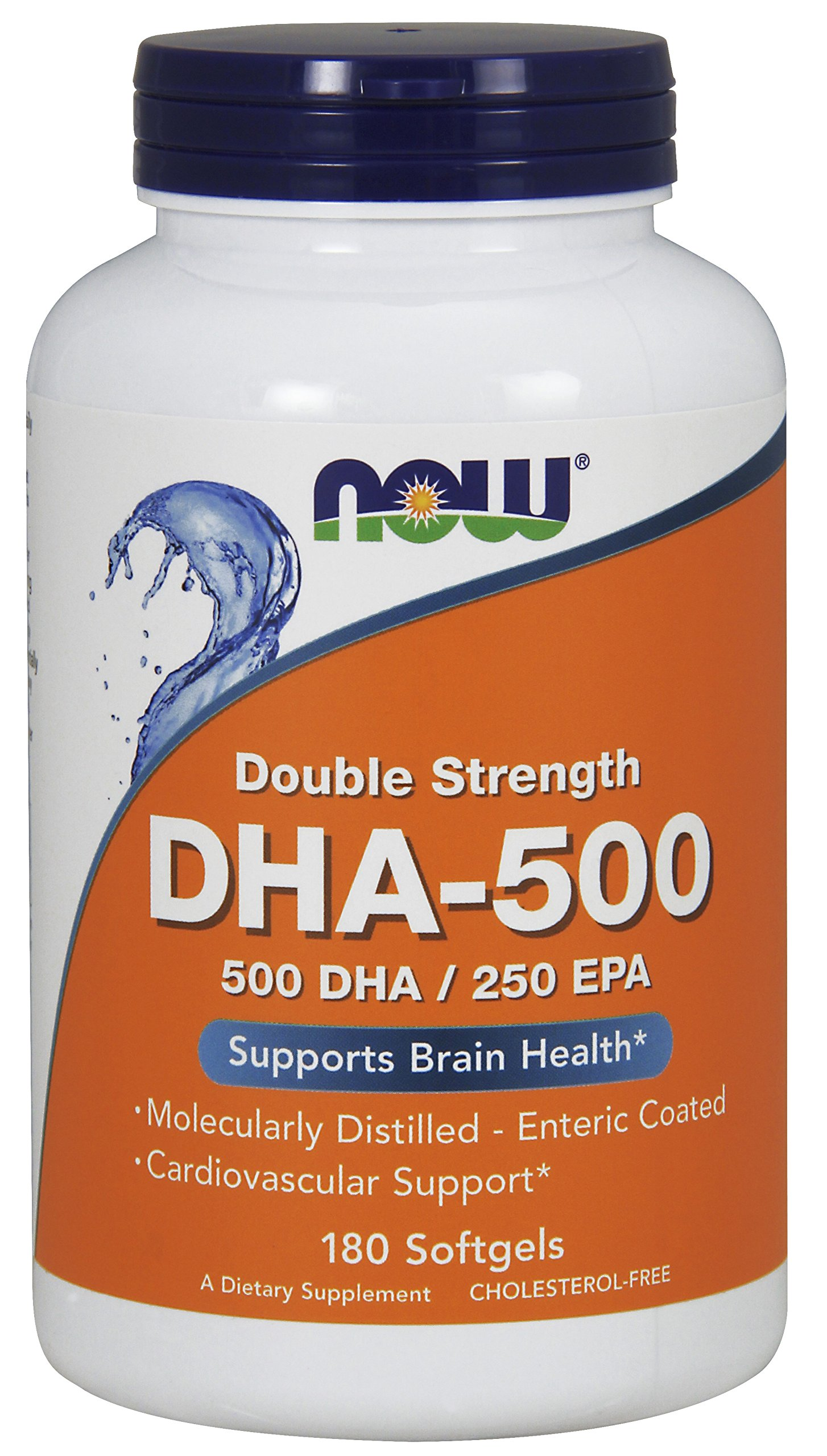 Now Supplements, DHA-500, Molecularly Distilled, 180 Softgels by NOW Foods