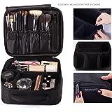 ROWNYEON Portable Travel Makeup Bag Professional Makeup Case Mini Makeup Train Case 9.8''