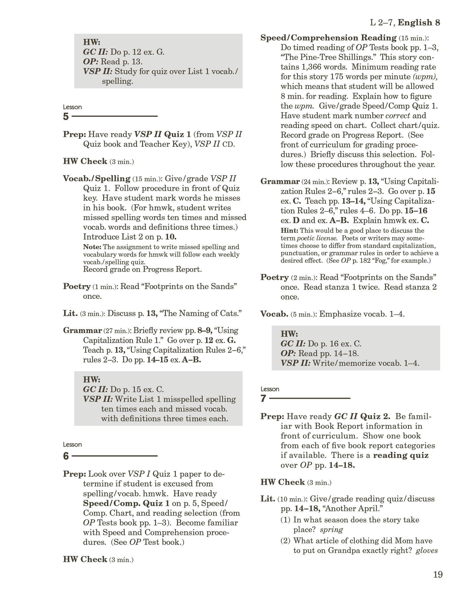 Homeschool English 8 Curriculum/Lesson Plans: Abeka: Amazon com: Books