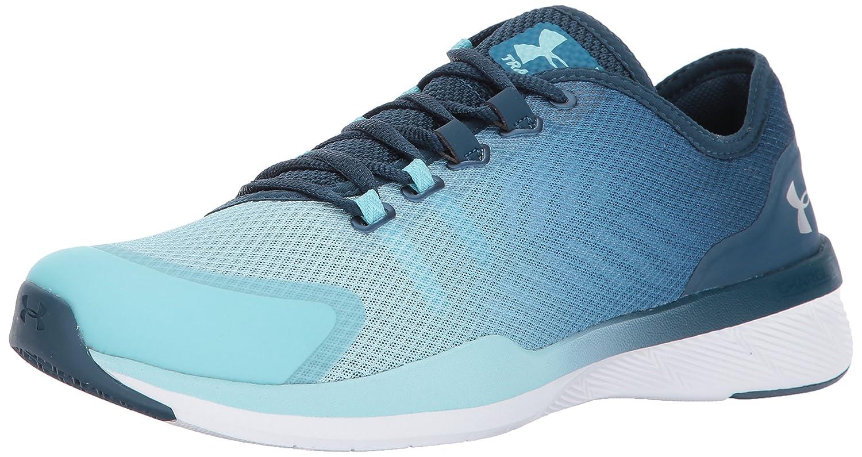 Under Armour Women's Charged Push Cross-Trainer Shoe B01MQW5SZ1 9.5 M US|Bayou Blue (953)/Blue Infinity