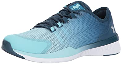 under armour shoes blue. under armour women\u0027s charged push, bayou blue/blue infinity/metallic silver, 5 shoes blue