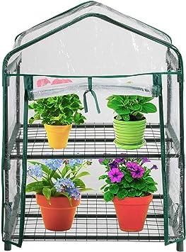 WZTO 2-Tier Mini Serre de Jardin Étagère, Serre portative Tente Abri  Couverture 4.27 * 19 * 36 in, Greenhouse Résistant aux Intempéries Serre  Durable ...