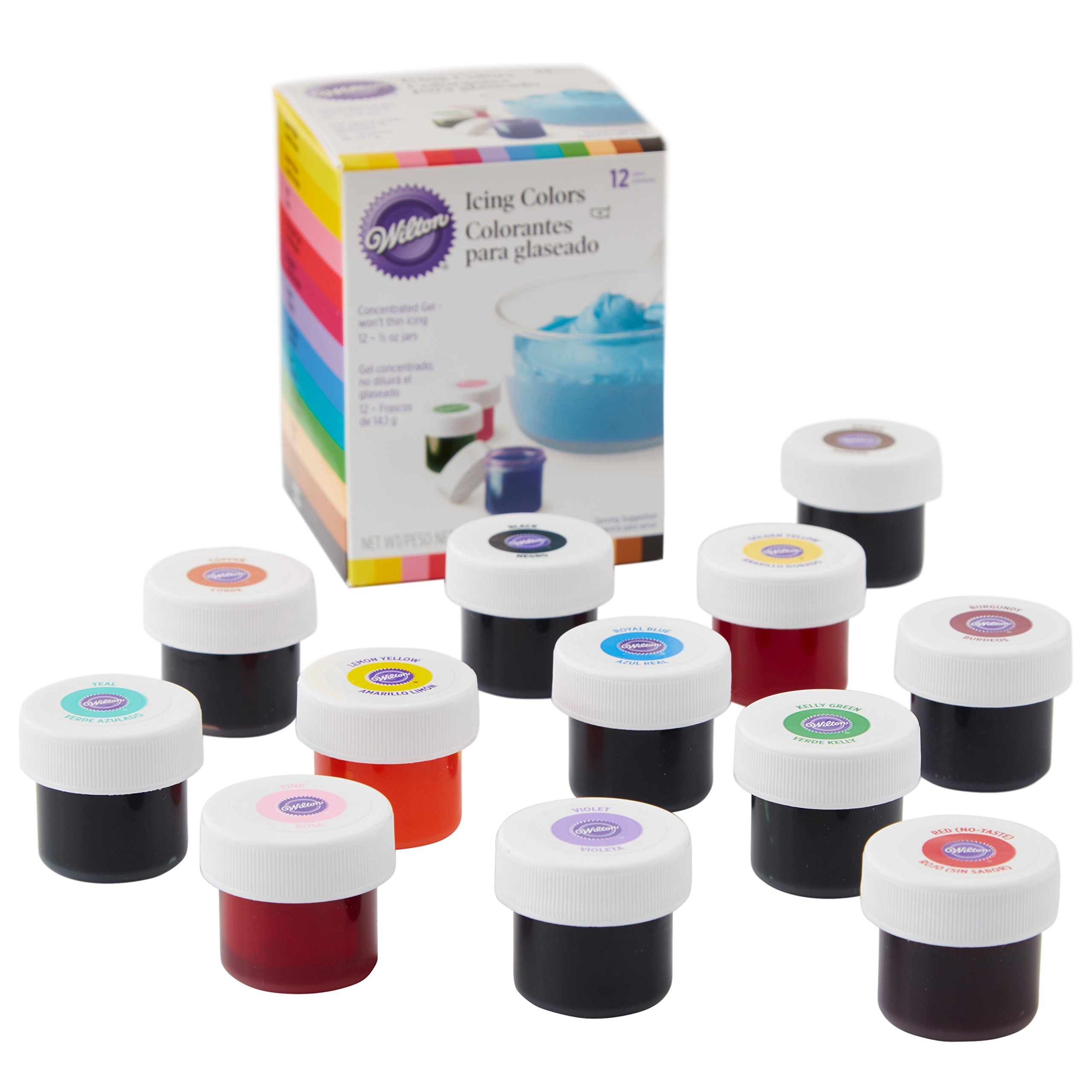 Wilton Icing Colors, 12-Count Gel-Based Food Color by Wilton