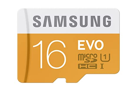 Samsung 16GB up to 48MB/s EVO Class 10 Micro SDHC Card with Adapter (MB-MP16DA/AM)