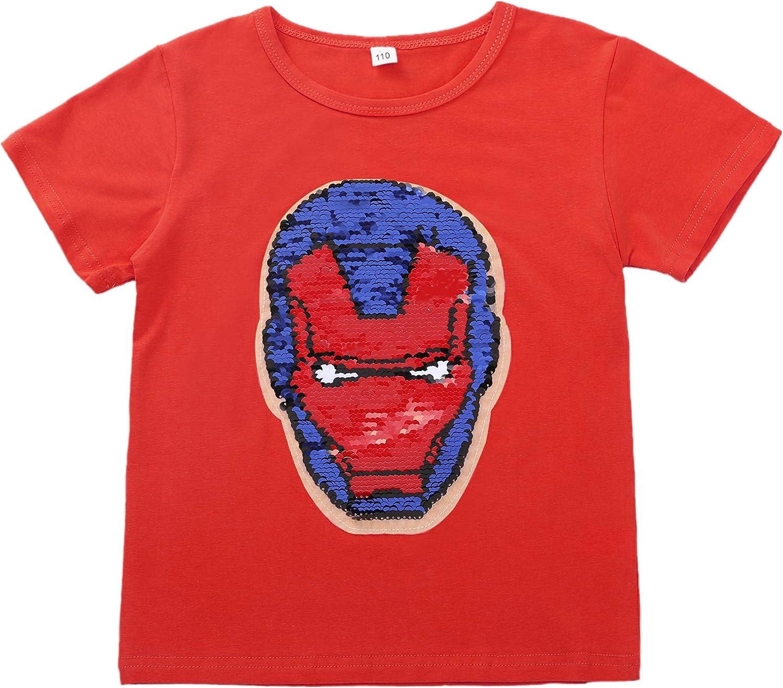 The Avengers Kinder Erwachsene Jungs Mädchen Sommer mit kurzen Ärmeln T-Shirt