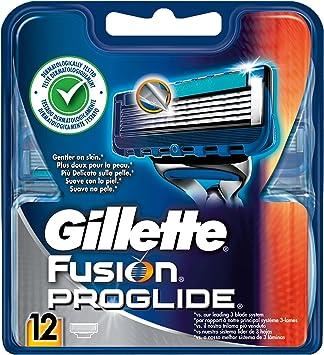 Gillette Fusion ProGlide Cuchillas de Value Pack, 12 unidades ...