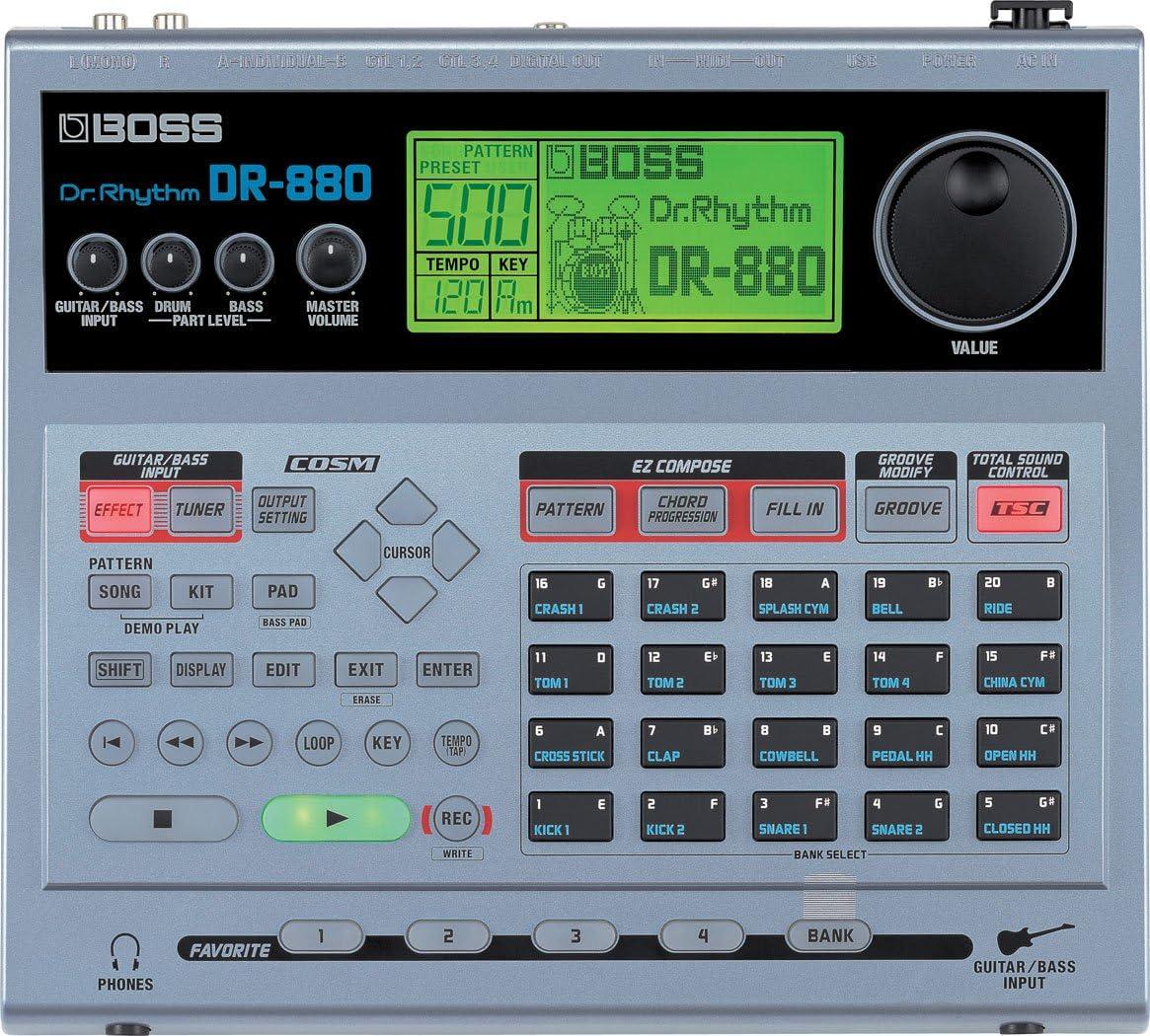 BOSS Máquina DR-880 Dr. Rhythm Drum: Amazon.es: Instrumentos musicales