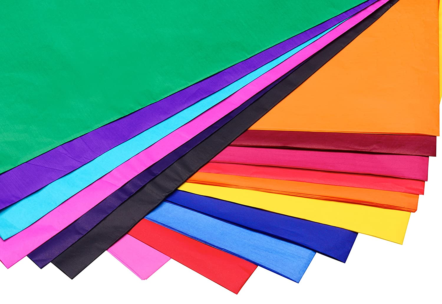 Amazon tissue paper craft paper colored paper larger 19 23 amazon tissue paper craft paper colored paper larger 19 23 x 29 12 heavier thicker 21gsm more colors 25 vibrant colors 100 sheets paper crafts jeuxipadfo Gallery