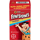 FLINTSTONES Plus Iron Chewable Multivitamin for Kids, Helps with Normal Growth and Development, 60 Chewable Tablets