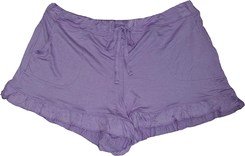 Lavender Touch Ruffle Sleep Shorts