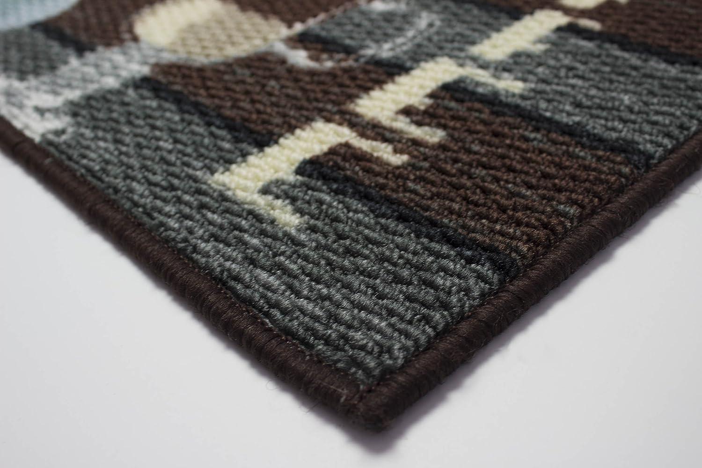 Runner Kitchen Rug Coffee Creative Home Ideas YMK003961 Structures Textured Loop 20 x 48 in