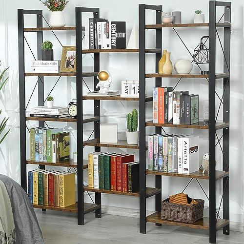 Sedeta Triple Wide 5-Shelf Bookcase - the best modern bookcase for the money