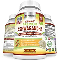 Ashwagandha KSM-66 by Fresh Healthcare, 1200mg Pure and Potent Root Extract Capsules...