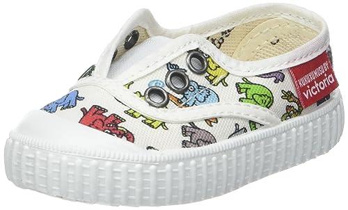 Victoria Inglesa Elefantes Kukuxumusu, Zapatillas Unisex bebé, Blanco, 18 EU: Amazon.es: Zapatos y complementos