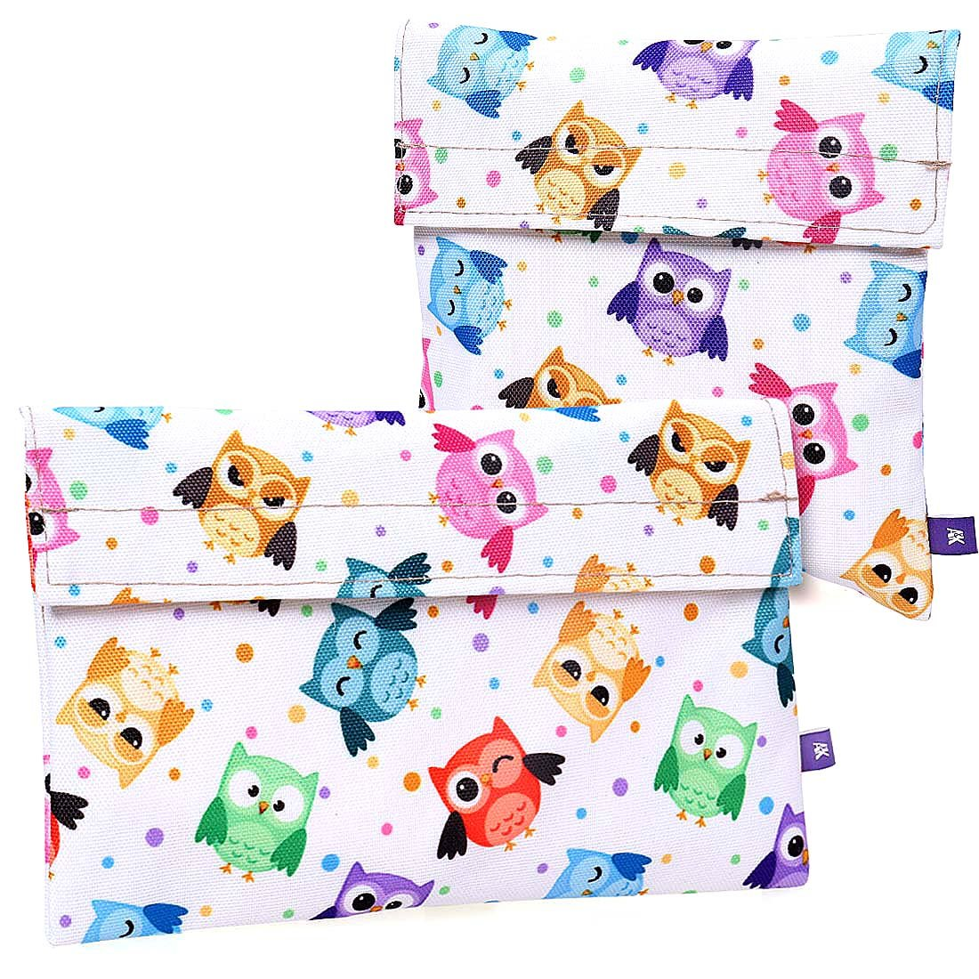 Ava & Kings 2 Pack On The Go Reusable Kids Snack Pack Coolers - Owls