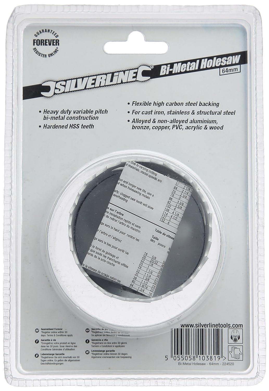 Silverline 868682 Corona perforadora bimetal 22 mm