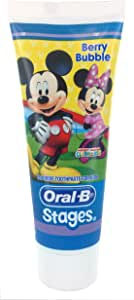 Oral-B Stages Mickey Mouse Berry Bubble Fluoride Toothpaste For Kids 92g, 0.125 kilograms