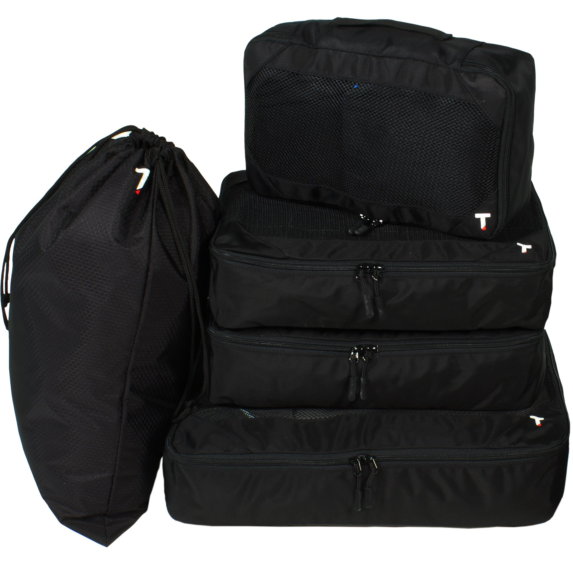 5pc Packing Cubes and Laundry Bag Set - Carryon Size