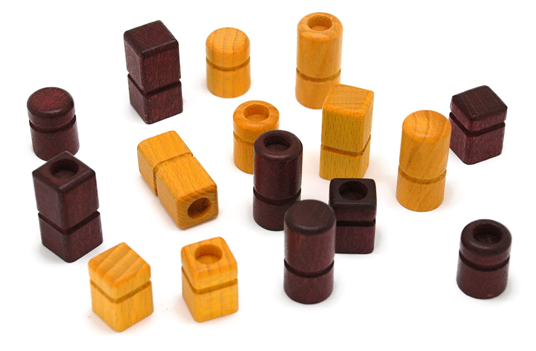Gigamic QTM Quarto Mini Juego de Mesa de Estrategia con Piezas de Madera Importado de Alemania