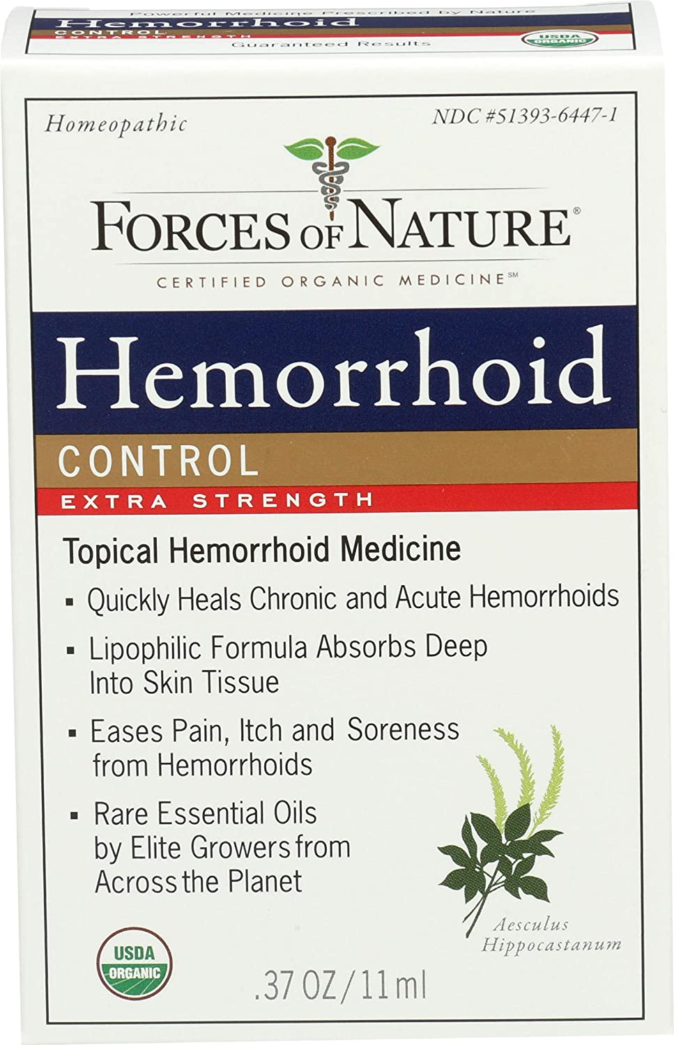 Forces Of Nature, Hemorrhoid Extra Strength Organic, 0.37 Ounce