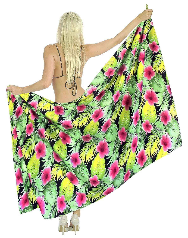 LA LEELA Soft Light Beach Long Swimsuit Girls Sarong Printed 88