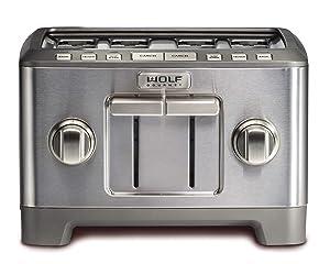 Wolf Gourmet 4 Slice Toaster (WGTR124S) (Stainless Steel)