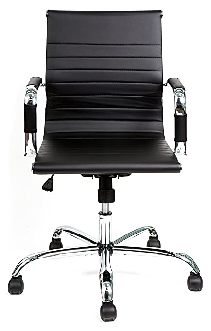 Merveilleux HULLR Mid Back Modern Office Conference Task Chair Ergonomic Contemporary  Design Eames Style, Chrome Armrest
