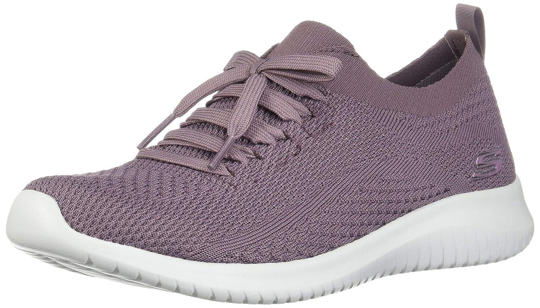 Purple Skechers Womens Ultra Flex-Statements Sneakers