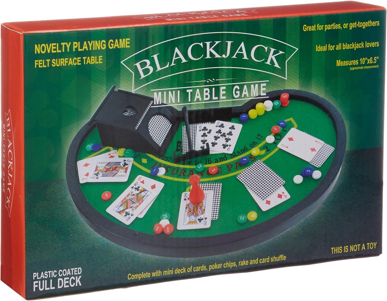 Table Top Games Mini Black Jack Table Game Set