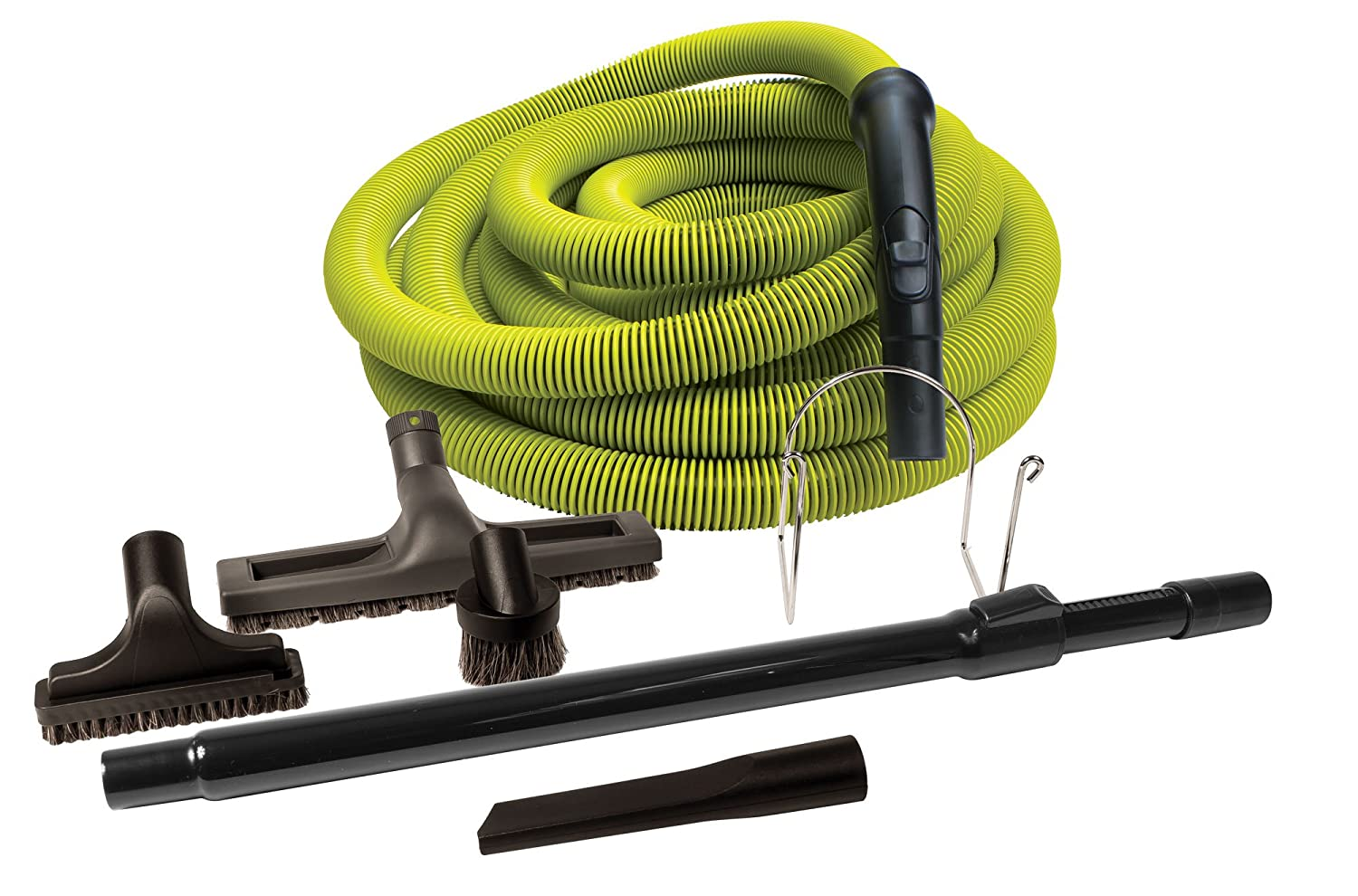 KIT FOR CENTRAL VACUUM HOSE 30' LIME W TOOL AND WAND Johnny Vac
