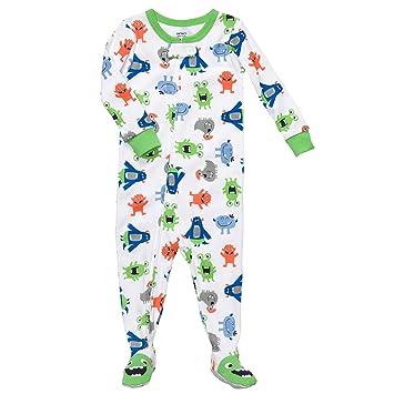 59da5e05752f Amazon.com  Carter s Baby Boys One Piece Cotton Knit Footed Sleeper ...