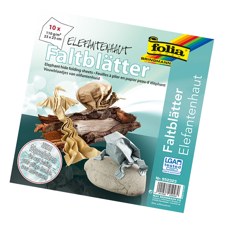 Idena Folia 952 323 - Volantini pelle di elefante, 23 x 23 cm, per infeltrimento bagnato 952323