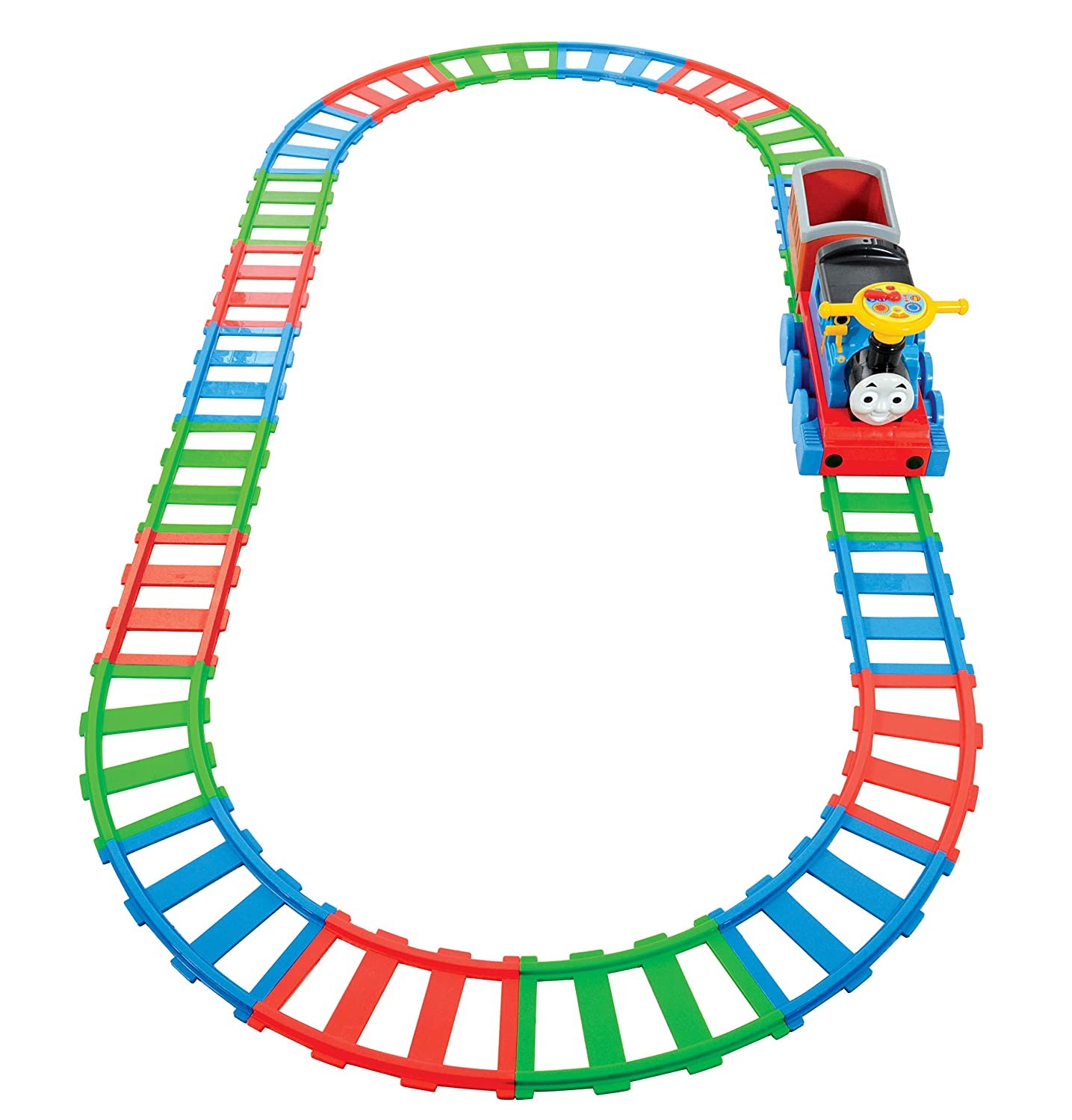 Thomas & Friends Battery Operated Train and 22 piece Track Set MV Sports M09219 Sounds Music Ride On Trains Thomas the Tank Engine & Friends Vehicles