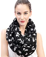 Lina & Lily Bunny Rabbit Print Women's Infinity Loop Scarf