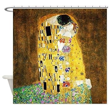 CafePress Gustav Klimt The Kiss Shower Curtain Decorative Fabric 69quot